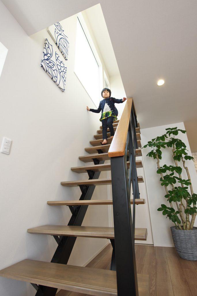 【姫路市 注文住宅 31坪】<br>リビング階段で家族が繋がるシンプルナチュラルなお家